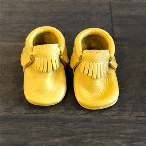 Mustard Yellow Freshly Picked Moccasins